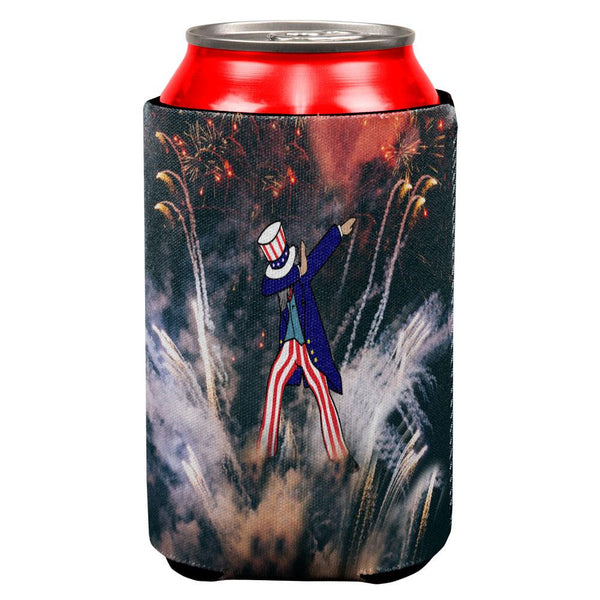 4th of July Dabbing Uncle Sam Fireworks Sub All Over Can Cooler