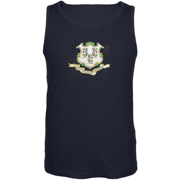 Born and Raised Connecticut State Flag Mens Tank Top