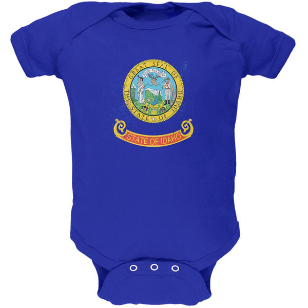 Born and Raised Idaho State Flag Soft Baby One Piece