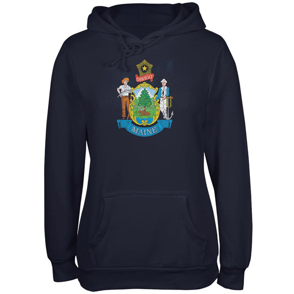 Born and Raised Maine State Flag Juniors Soft Hoodie