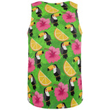Tropical Vacation Toucan Pattern All Over Mens Tank Top