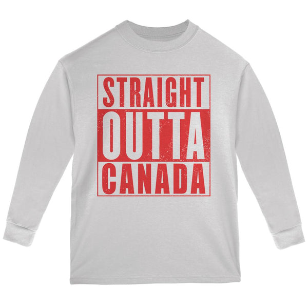 Straight Outta Canada Youth Long Sleeve T Shirt