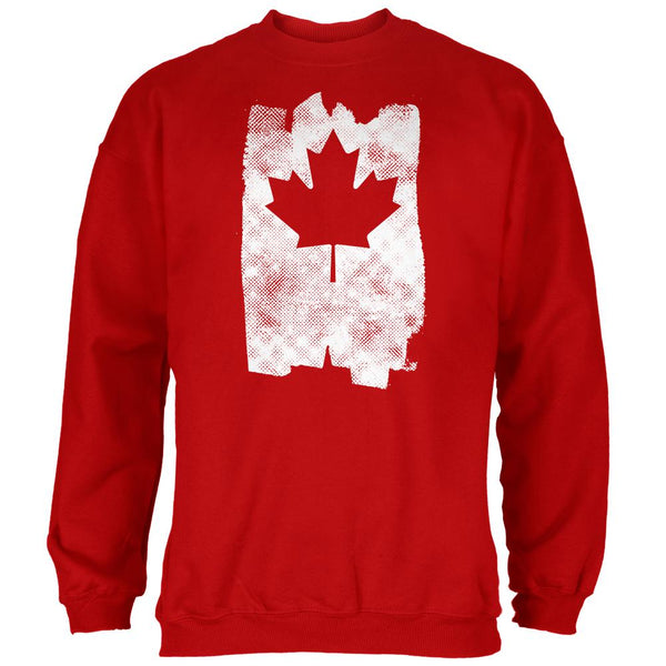 Graffiti Maple Leaf Canadian Flag Mens Sweatshirt
