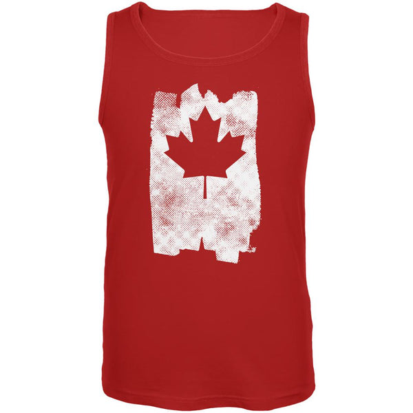 Graffiti Maple Leaf Canadian Flag Mens Tank Top