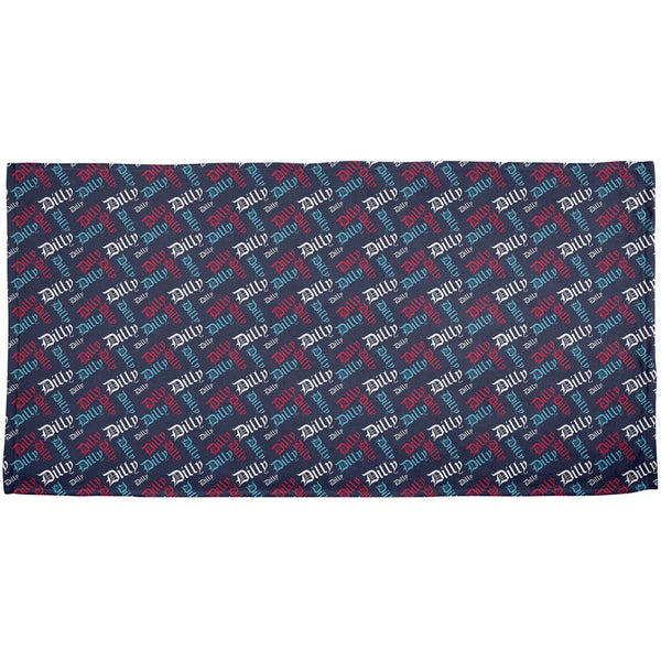 4th Of July Dilly Dilly Pattern Fireworks All Over Beach Towel