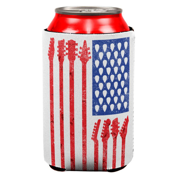 4th Of July Stars and Strings Guitar American Flag All Over Can Cooler