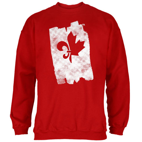 Graffiti French Canadian Fleur de Lis Maple Leaf Mens Sweatshirt