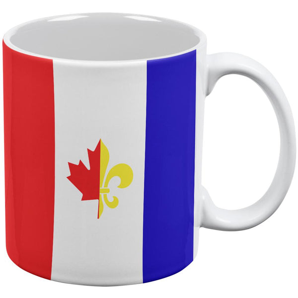 French Canadian Flag All Over Coffee Mug