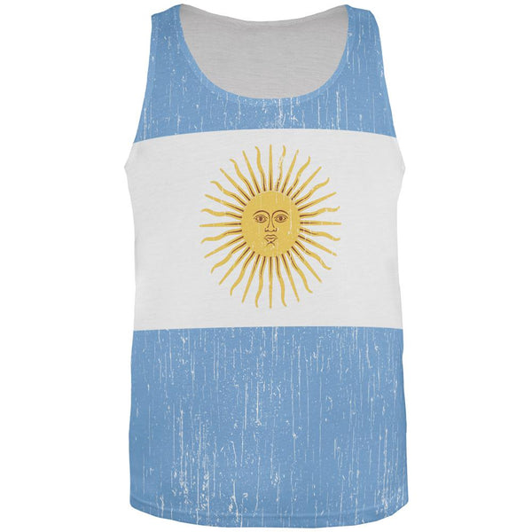 World Cup Argentina Sun All Over Mens Tank Top