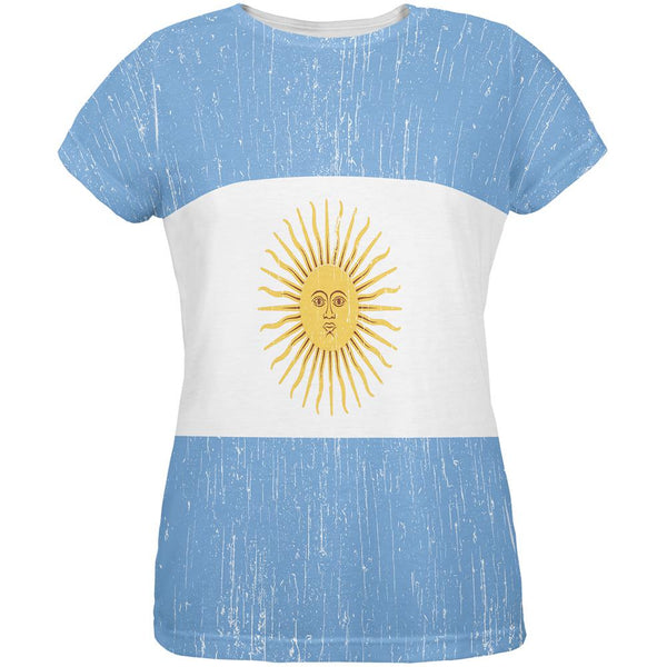 World Cup Argentina Sun All Over Womens T Shirt