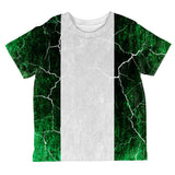 Distressed Grunge Flag of Nigeria All Over Toddler T Shirt
