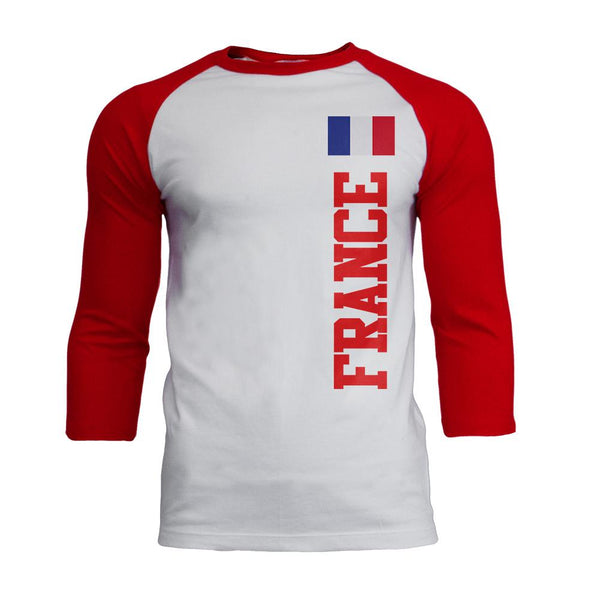 World Cup France Mens Soft Raglan T Shirt
