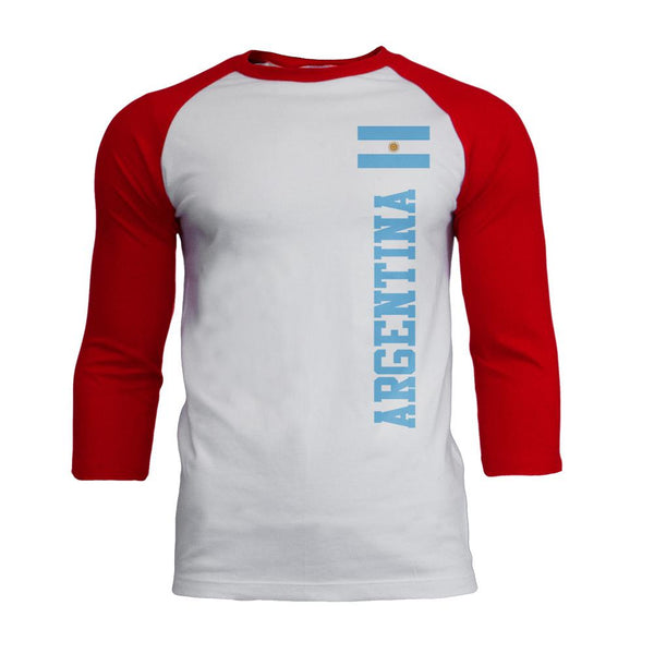World Cup Argentina Mens Soft Raglan T Shirt