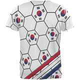 World Cup South Korea Soccer Ball All Over Mens T Shirt