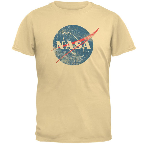 NASA Distressed Logo Mens T Shirt