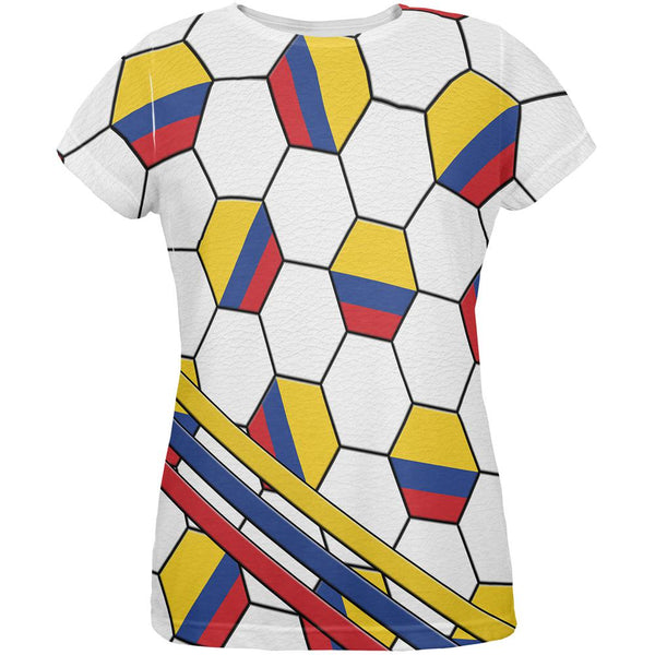 1152ee02e World Cup Colombia Soccer Ball All Over Womens T Shirt