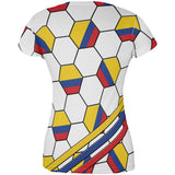World Cup Colombia Soccer Ball All Over Juniors T Shirt