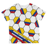 World Cup Colombia Soccer Ball All Over Toddler T Shirt