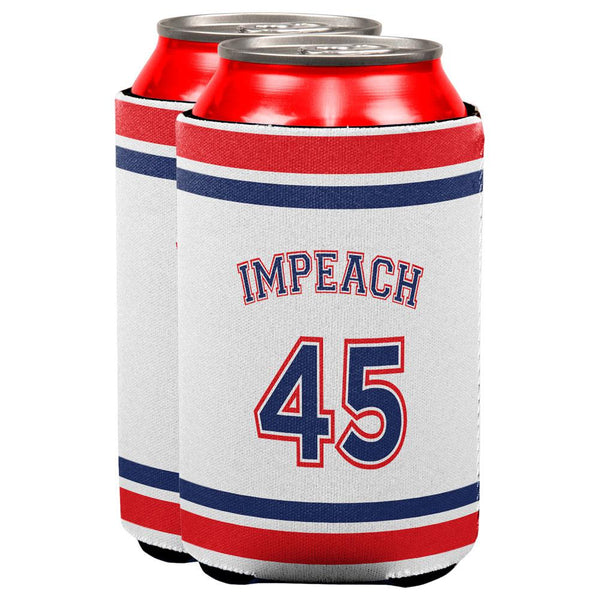 Impeach 45 45th President Donald Trump All Over Can Cooler Set