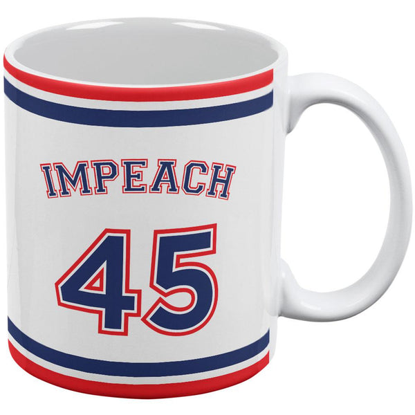 Impeach 45 45th President Donald Trump All Over Coffee Mug