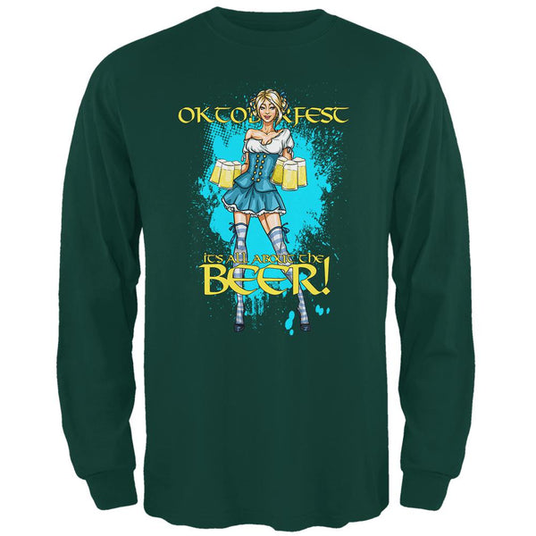 Oktoberfest All About The Beer Wench Mens Long Sleeve T Shirt