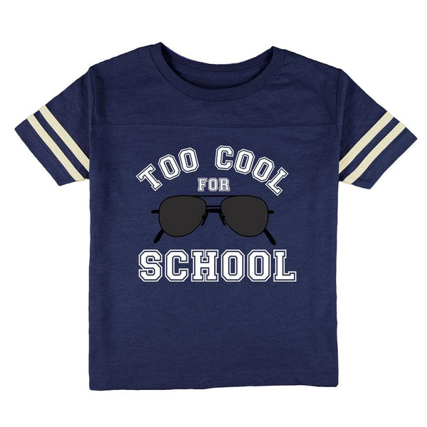 Back To School Too Cool For School Sunglasses Toddler Football T Shirt