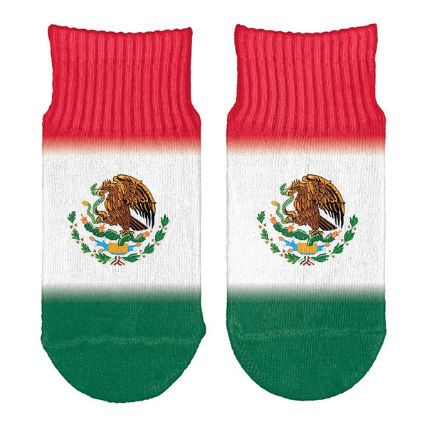 Cinco De Mayo Mexican Flag All Over Toddler Ankle Socks