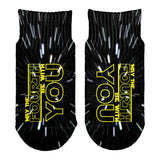 May The Fourth Be With You All Over Toddler Ankle Socks