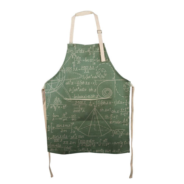 Math Geek Formulas Chalkboard All Over Apron