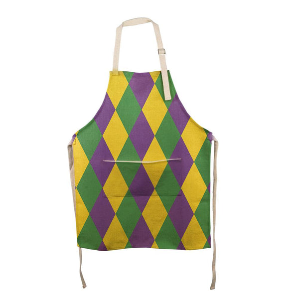 Mardi Gras Jester All Over Apron