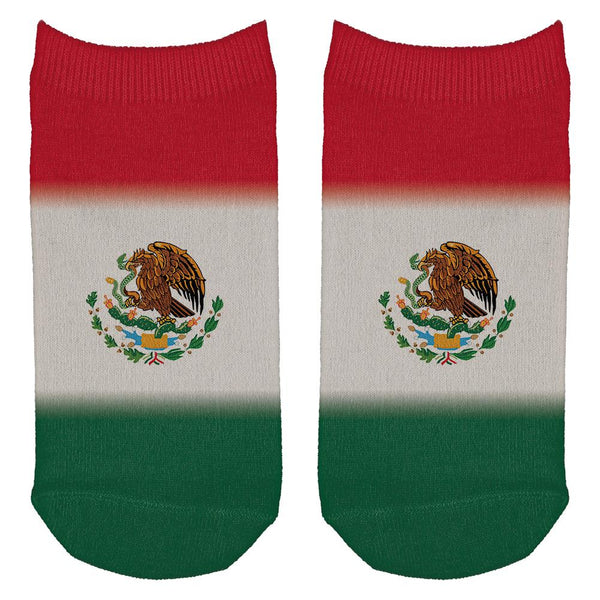 Cinco De Mayo Mexican Flag All Over Adult Ankle Socks