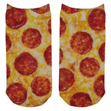 Pepperoni Pizza Costume All Over Adult Ankle Socks