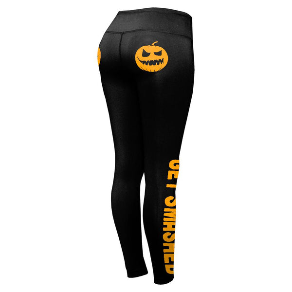 Halloween Jack-O-Lantern Get Smashed Pumpkin Lover Womens Performance Leggings