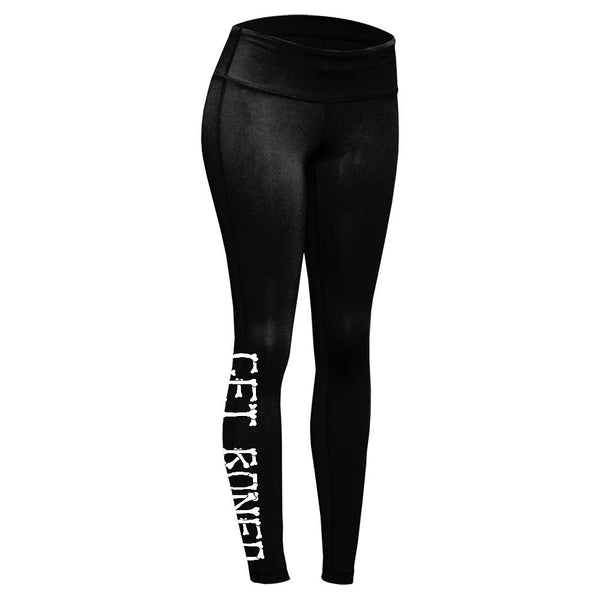 Halloween Skeleton hands Get Boned Womens Performance Leggings