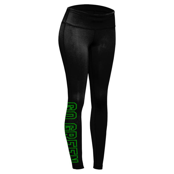Go Green Weed Pot Leaf Womens Performance Leggings
