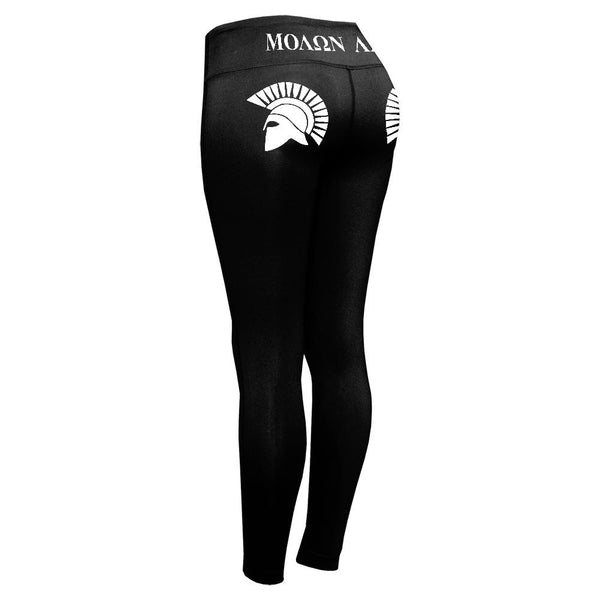 Molon Labe Spartan Helmet Greek Womens Performance Leggings