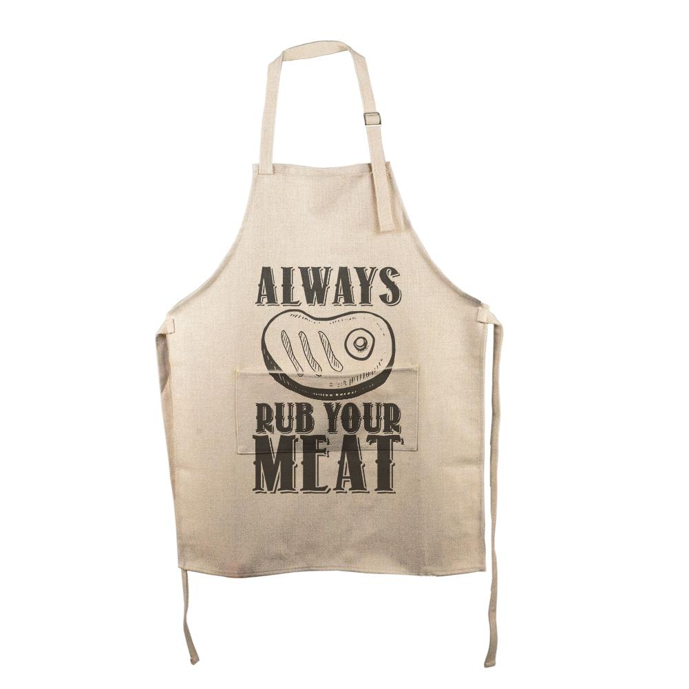 c416fa362 Always Rub Your Meat Funny Grill Master All Over Apron – OldGlory.com