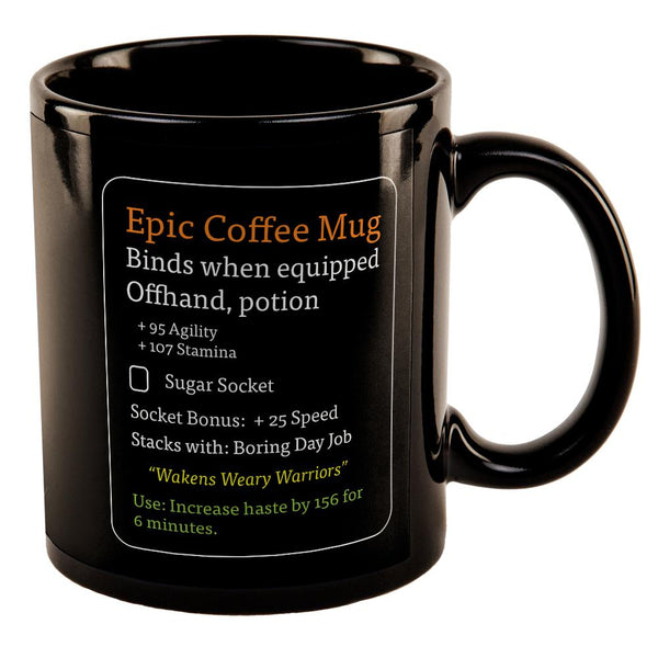 RPG Epic Mug All Over Black Out Coffee Mug