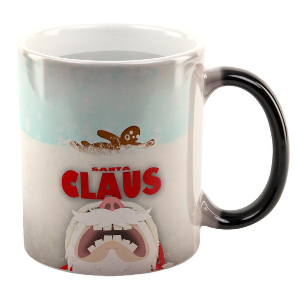 Christmas Santa Jaws Claus Horror All Over Heat Changing Coffee Mug