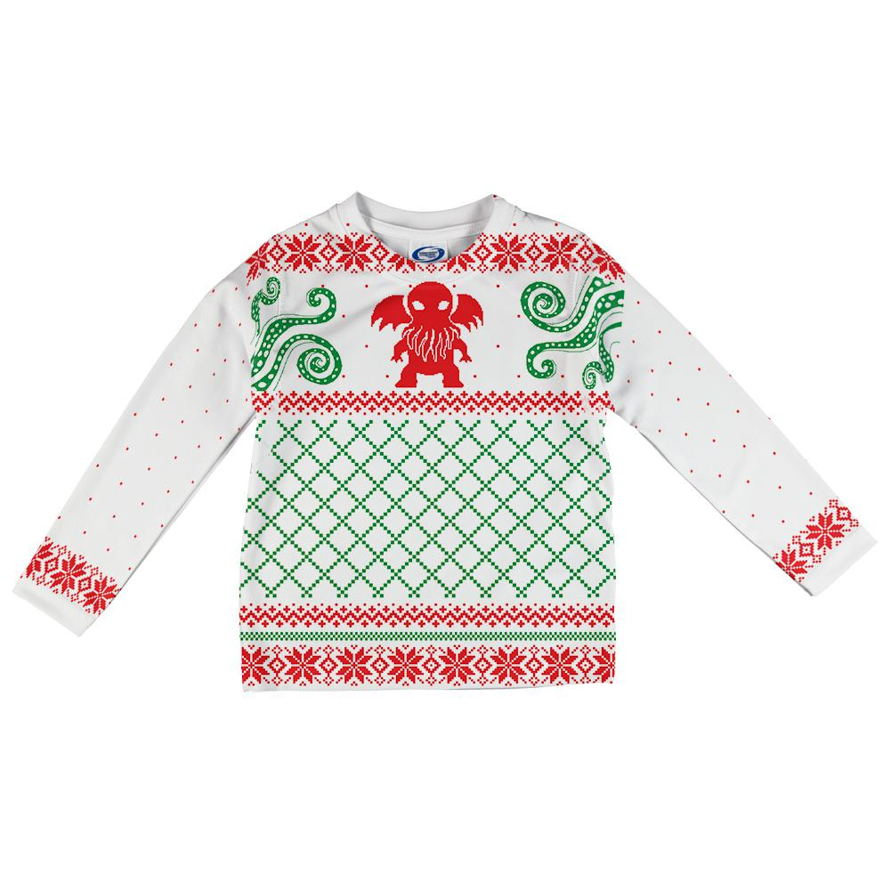 Cthulhu Lovecraft Dimensions Ugly Christmas Sweater Infant Long ...
