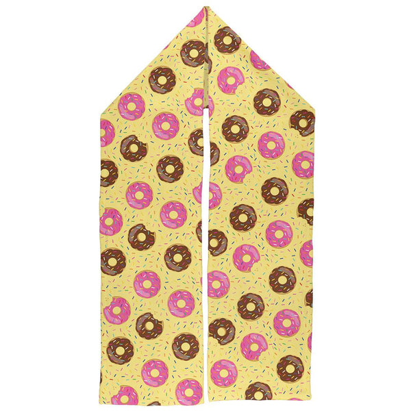 Frosted Donut Sprinkles Food Repeat Pattern Warm Fleece Scarf