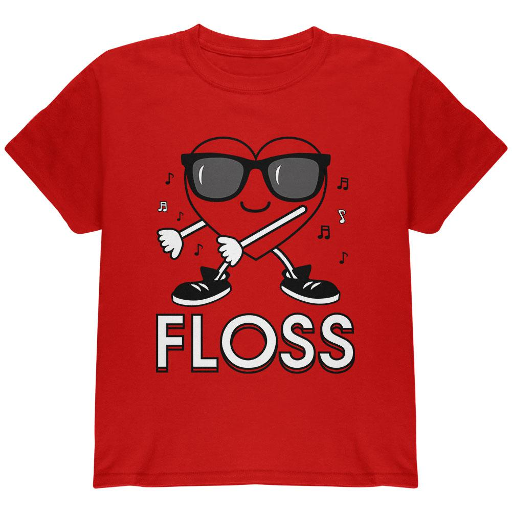 promo code 0c0cb b605b Valentine's Day Floss Flossing Dancing Heart Youth T Shirt