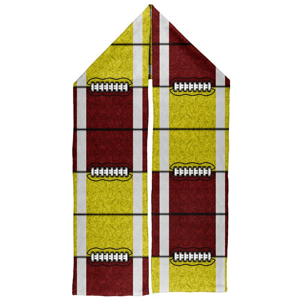 Fantasy Football Team Maroon and Yellow Warm Fleece Scarf