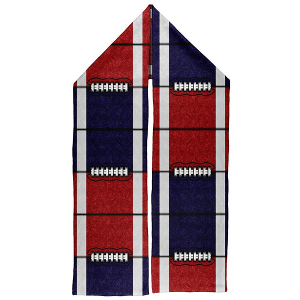 Fantasy Football Team Navy and Red Warm Fleece Scarf
