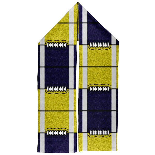 Fantasy Football Team Navy and Yellow Warm Fleece Scarf