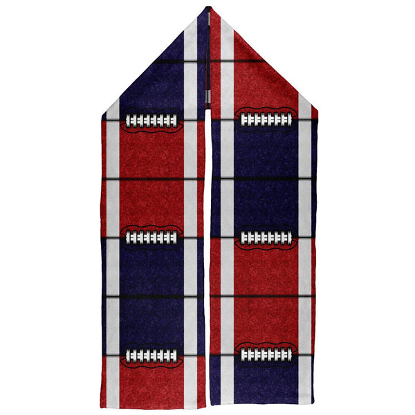 Fantasy Football Team Red and Navy Warm Fleece Scarf