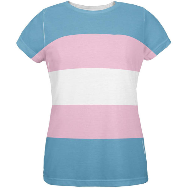 LGBT Transgender Pride Flag All Over Womens T Shirt