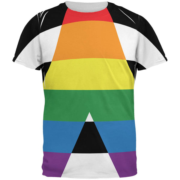 LGBT Straight Ally Pride Flag All Over Mens T Shirt