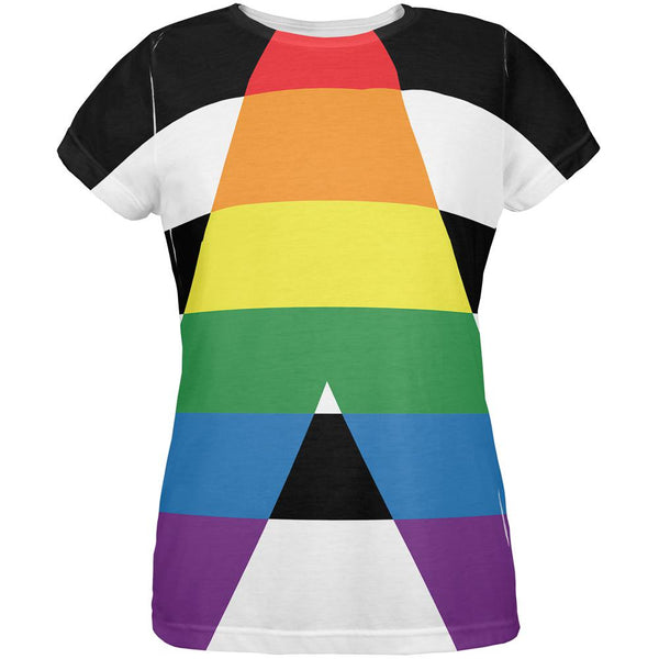 LGBT Straight Ally Pride Flag All Over Womens T Shirt