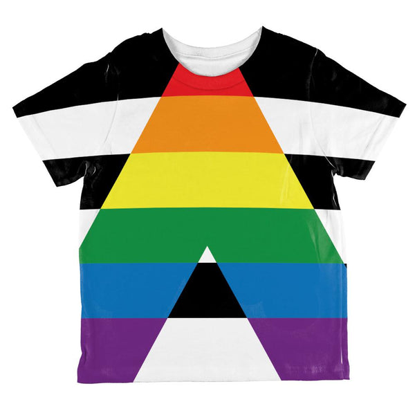 LGBT Straight Ally Pride Flag All Over Toddler T Shirt